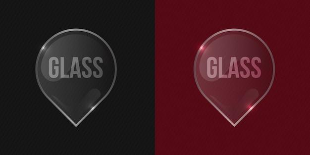 Marco cuadrado de cristal transparente