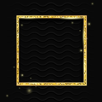 Marco cuadrado dorado