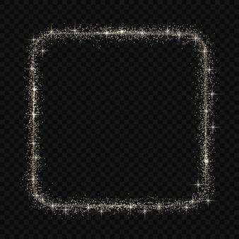 Marco cuadrado con efecto mágico de brillo de luz