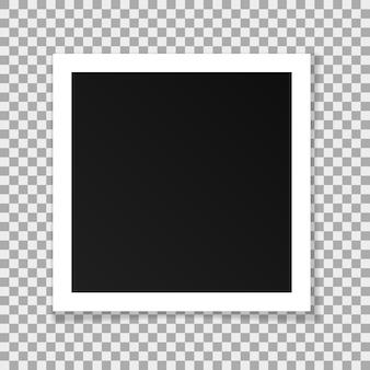 Marco cuadrado de papel de vector aislado sobre fondo transparente