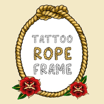 Marco de cuerda de tatuaje