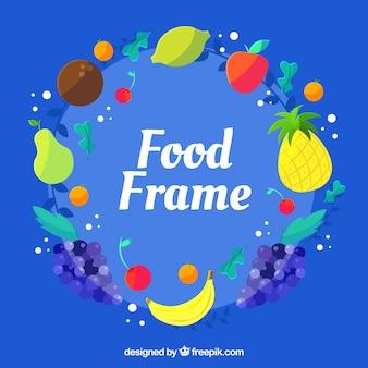 Marco de comida con frutas