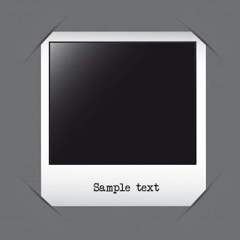Marco de fotos con texto de ejemplo sobre vector de fondo gris