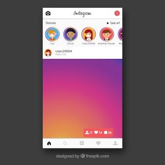 Marco de instagram con contactos
