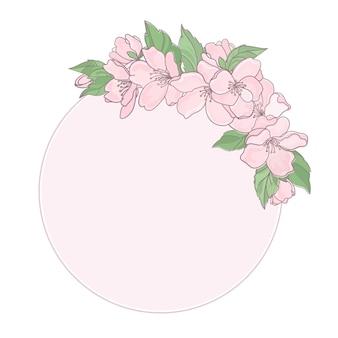 Marco de decoración de flores