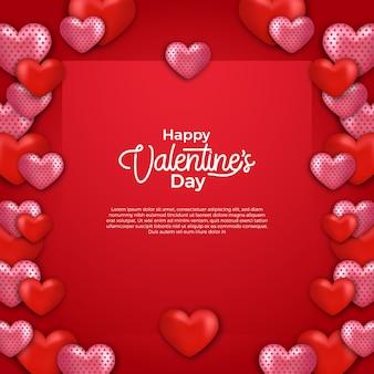 Marco decorativo en forma de corazón para el día de san valentín