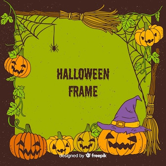 Marco decorativo de halloween dibujado a mano