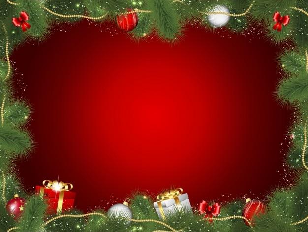 Marco decorativo navideño con regalos