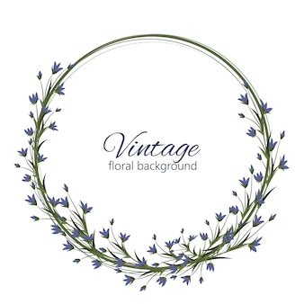 Marco delicado diseño floral del vector de la boda