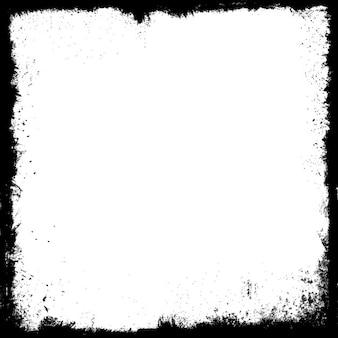 Marco detallado grunge en blanco y negro