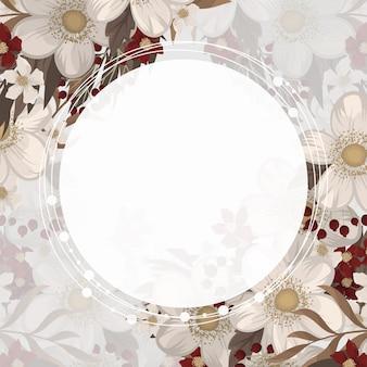Marco de dibujo de borde de flor