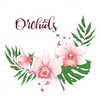 Marco de diseño floral