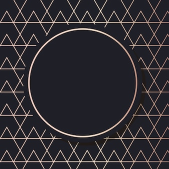 Marco dorado arte vector fondo cuadrado elegante geométrico tarjeta