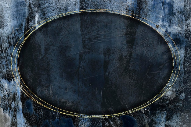 Marco dorado ovalado en vector de fondo abstracto