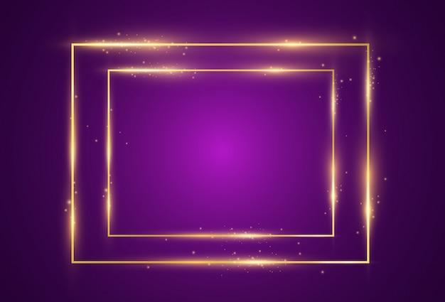 Un marco dorado sobre un fondo transparente.