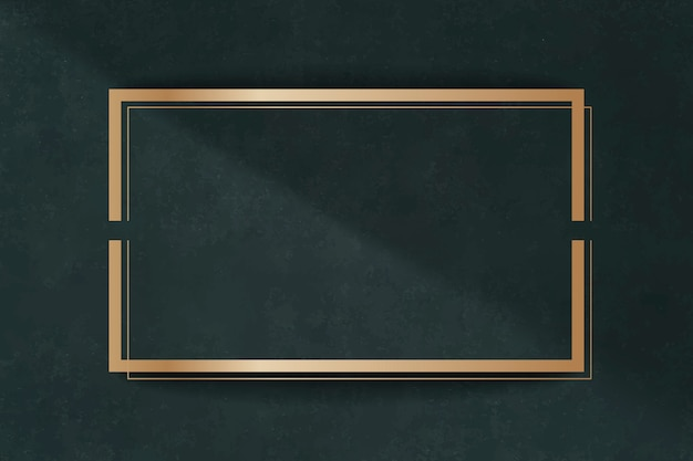 Marco dorado en una tarjeta verde