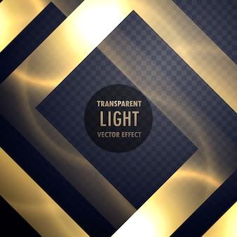 Marco de efecto de luz de oro de lujo para mejorar su diseño