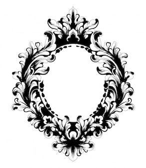 Marco de espejo barroco vintage
