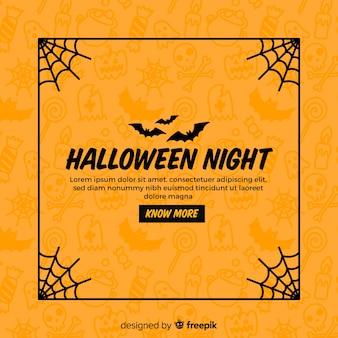 Marco espeluznante de halloween con estilo vintage
