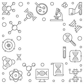 Marco de esquema cuadrado de concepto de herencia. ilustración vectorial