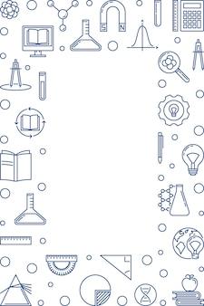 Marco de esquema vertical de educación - ilustración vectorial