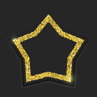 Marco estrella dorada