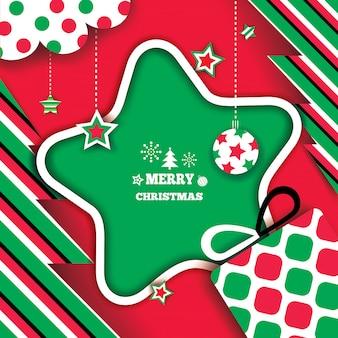 Marco estrella de navidad