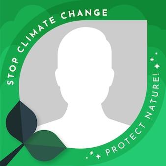 Marco de facebook de cambio climático plano orgánico