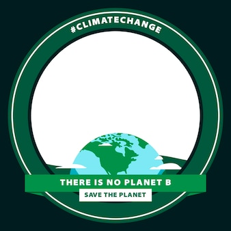 Marco de facebook de cambio climático plano