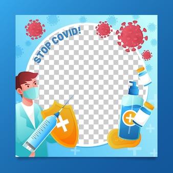 Marco de facebook de coronavirus degradado