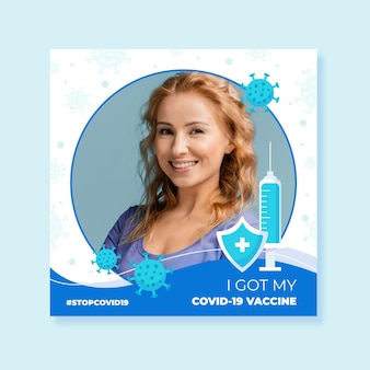 Marco de facebook de coronavirus con elementos dibujados