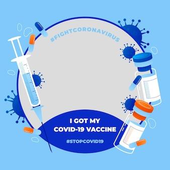 Marco de facebook de coronavirus para foto de perfil
