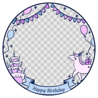 Marco de facebook de cumpleaños dibujado a mano
