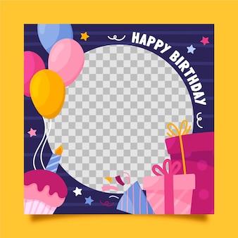 Marco de facebook de cumpleaños festivo