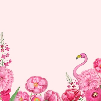 Marco flamenco rosa floral