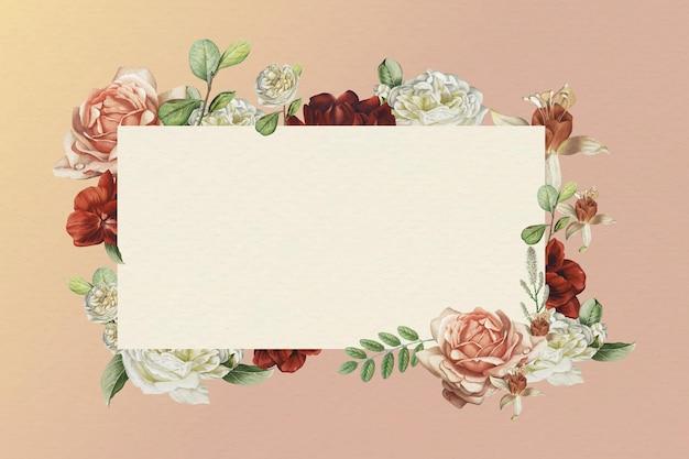 Marco de flor rectangular