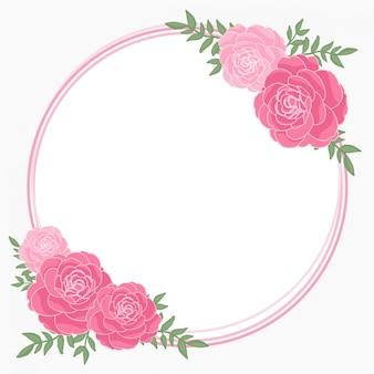 Marco de flor rosa