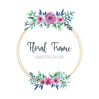 Marco floral acuarela