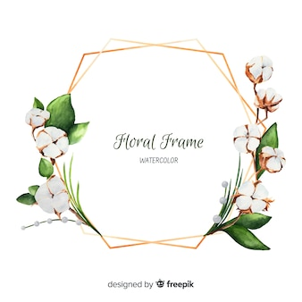 Marco floral en acuarelas