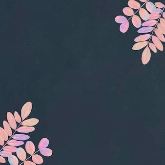 Marco floral azul en blanco