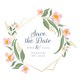 Marco floral de boda