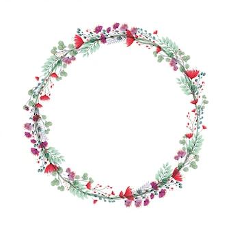 Marco floral de la boda
