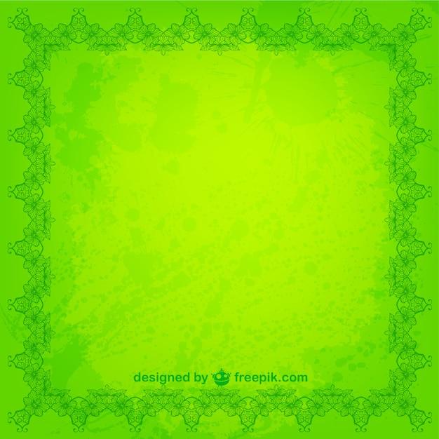 Marco floral de color verde