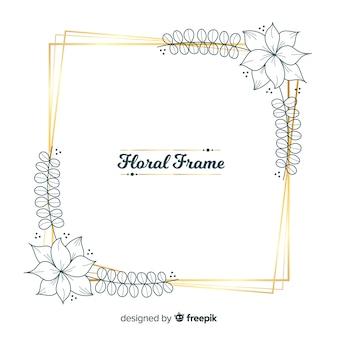 Marco floral cuadrado