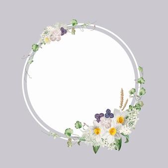 Marco floral decorado
