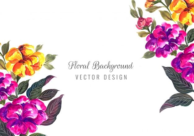 Marco floral decorativo de aniversario de boda para tarjeta de felicitación