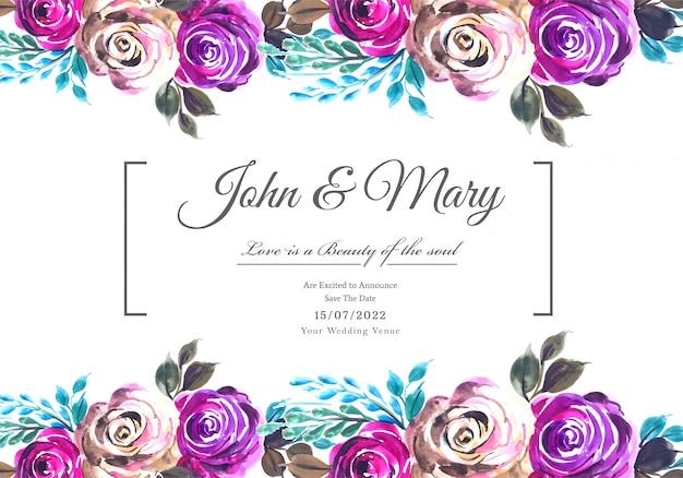 Marco floral decorativo de aniversario de boda
