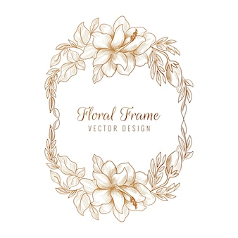 Marco floral decorativo dorado ornamental