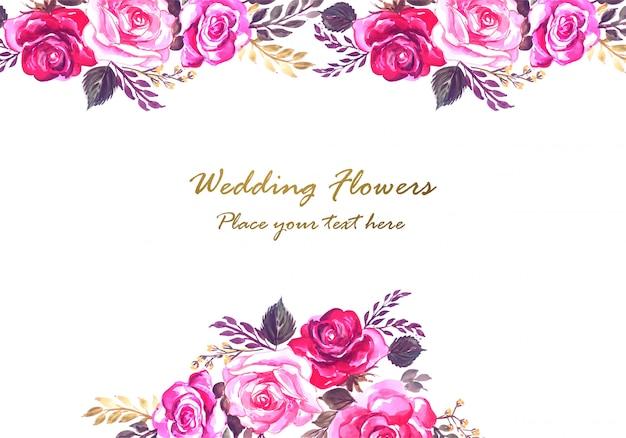 Marco floral decorativo hermoso aniversario de boda