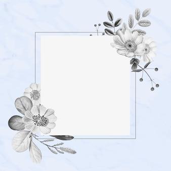 Marco floral dibujado a mano